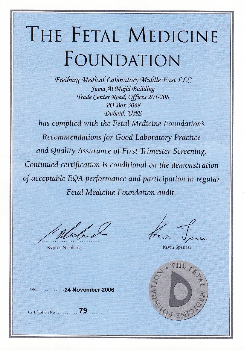 Fetal Medicine Foundation Certification
